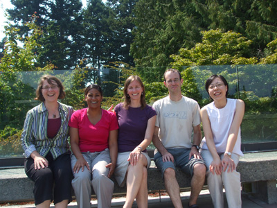 Dr. Meidad Kissinger (second from left) with SCARP PhD students