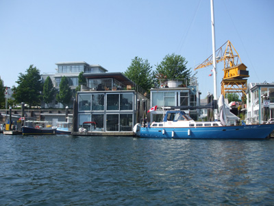 Houseboats and industry still co-exist on Granville Island