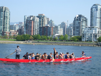 Yaletown, on the north side of False Creek