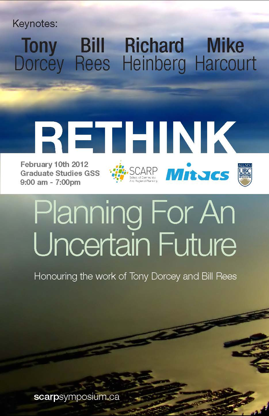 SCARP Symposium: Planning for an Uncertain Urban Future