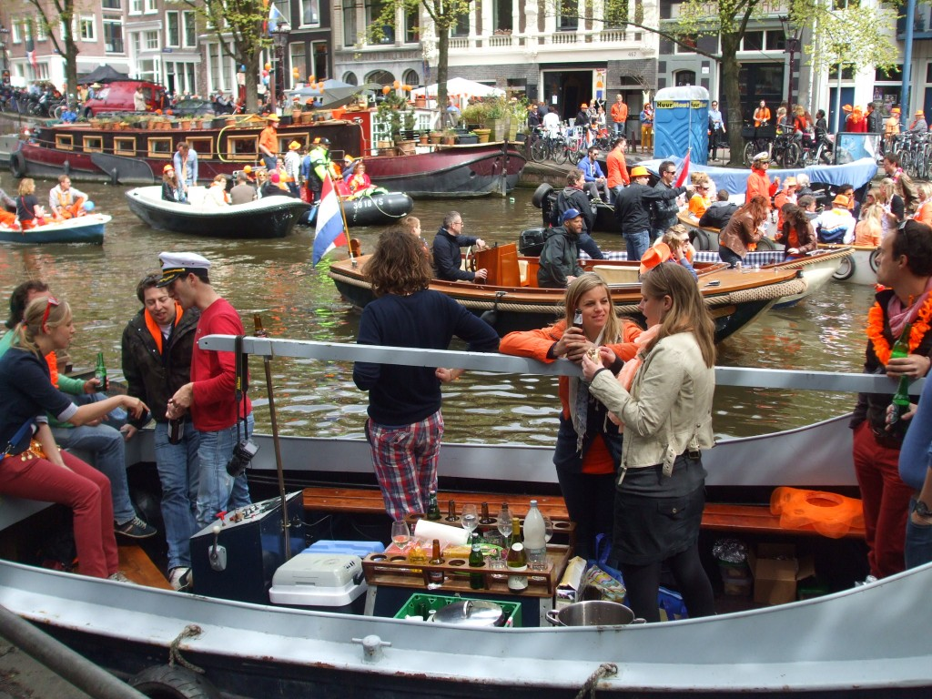 Celebrating on the Prinsengracht