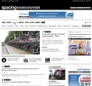 Amsterdam cycling profiled on Spacing Vancouver