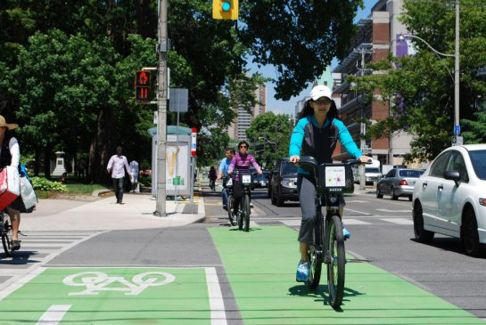 Sherbourne bike lanes a hit