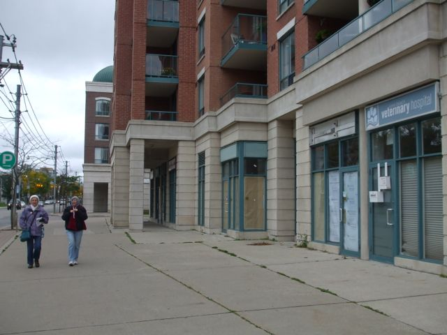 Much more space for pedestrians, but no amenities