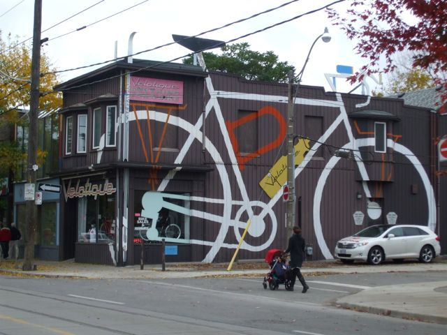 Velotique making an imprint on the urban fabric at Queen and Rhodes