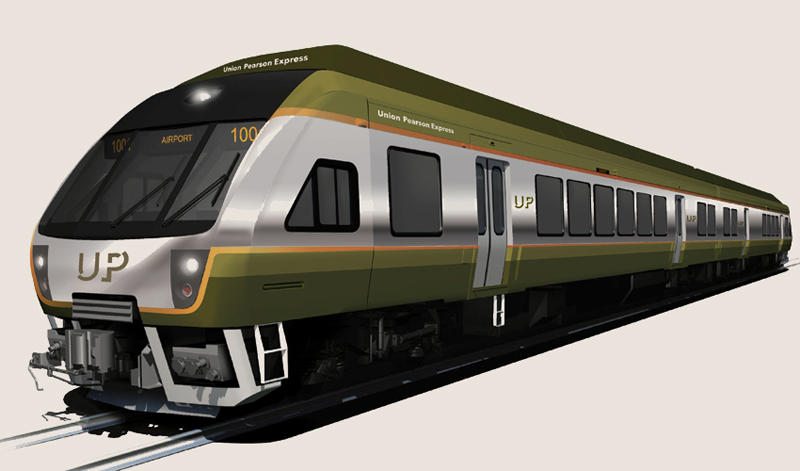 Rendering of the UP Express by Metrolinx