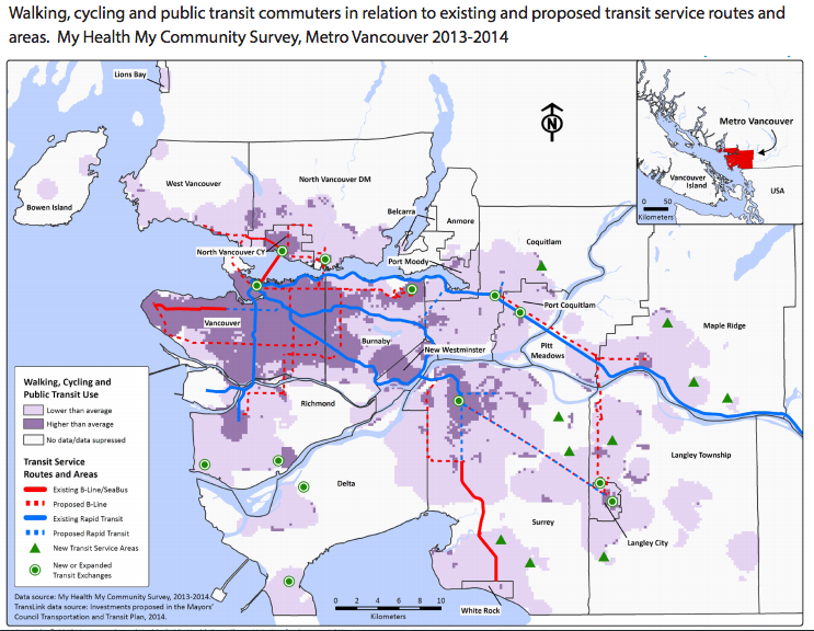 Metro Vancouver's active transportation trends