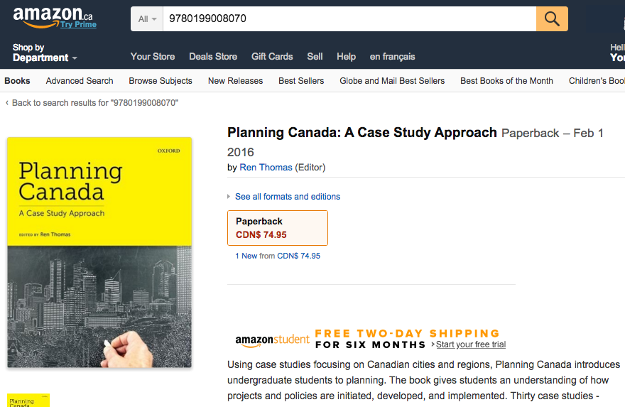 Planning Canada: A Case Study Approach is available for pre-order!