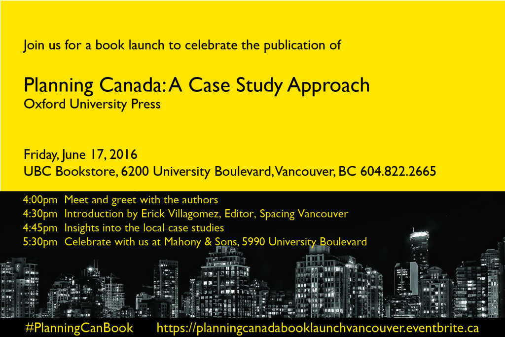 Can't wait to see you all at the Vancouver book launch next week!