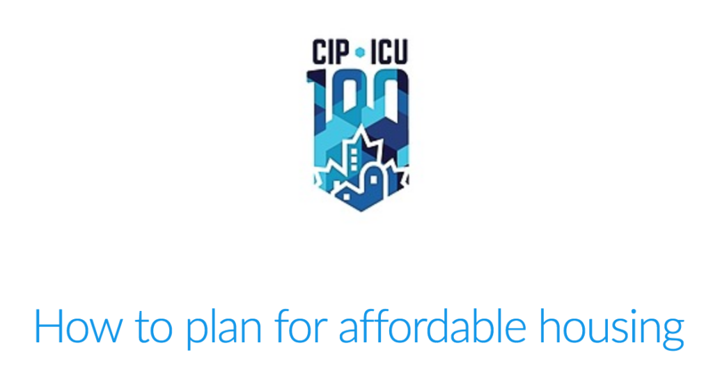 Register for the CIP/CMHC webinar on affordable housing